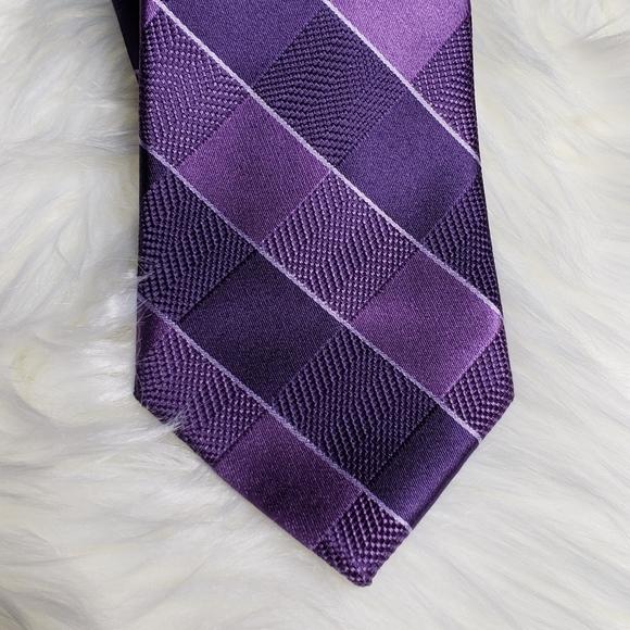 Michael Kors Purple Silk Neck Tie